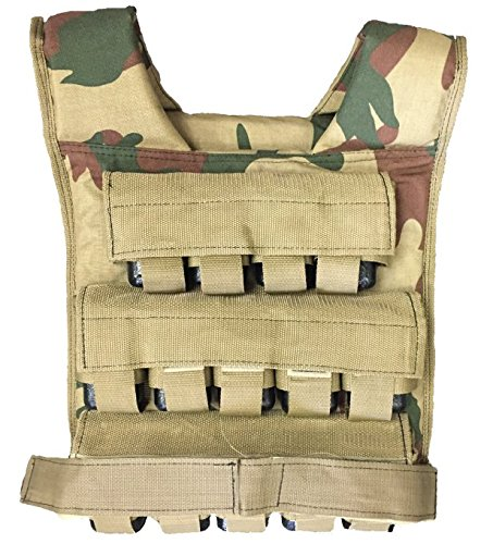 Perform Better Camo Camouflage weight Vest, 84 lbs by Perform Better