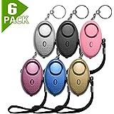 SLMT Safe Sound Personal Alarm 130DB Self Defense Keychain Alarm, Self Protection Personal Safety Alarm for Women, Girls, Kids, Elderly (6multicolor)
