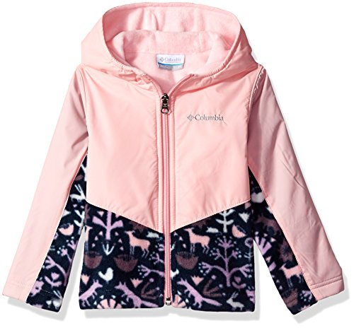 4t Jacket (Columbia Toddler Girls' Steens Mt Overlay Hoodie, Cupid Critters, 4T)