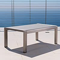 Deals on Christopher Knight Home Cape Coral Aluminum Coffee Table