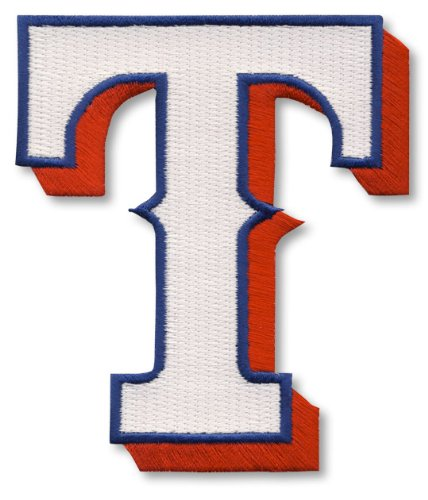 Official Mlb Baseball Patch (Texas Rangers T Logo Official MLB Baseball)