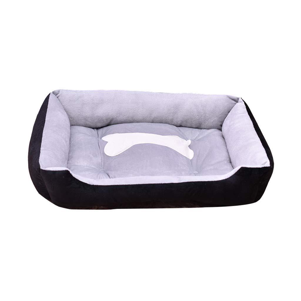 B XX-Large B XX-Large HeiPlaine Pet Sofa Winter Kennel, Comfortable Pet Cat Bed Soft Cushion Short Velvet Fabric Dog Bone Pattern (color   B, Size   XX-Large)