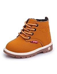 Bumud Boys Girls Lace Up Snow Work Boots Casual Shoes (Toddler/Little Kid)