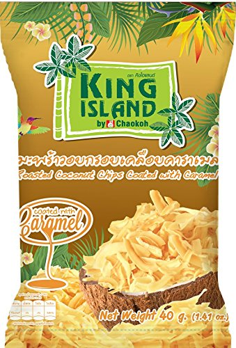 King Island Roasted Coconut Chips 40 g, Healthy snack (Caramel) Review