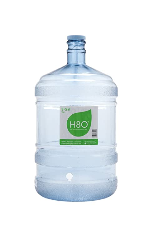 4cc327d716 Amazon.com: H8O Polycarbonate Water Bottle (with Handle) with 48mm ...