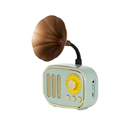 Amazon com: wewa98698 Vintage Mini Gramophone Bluetooth