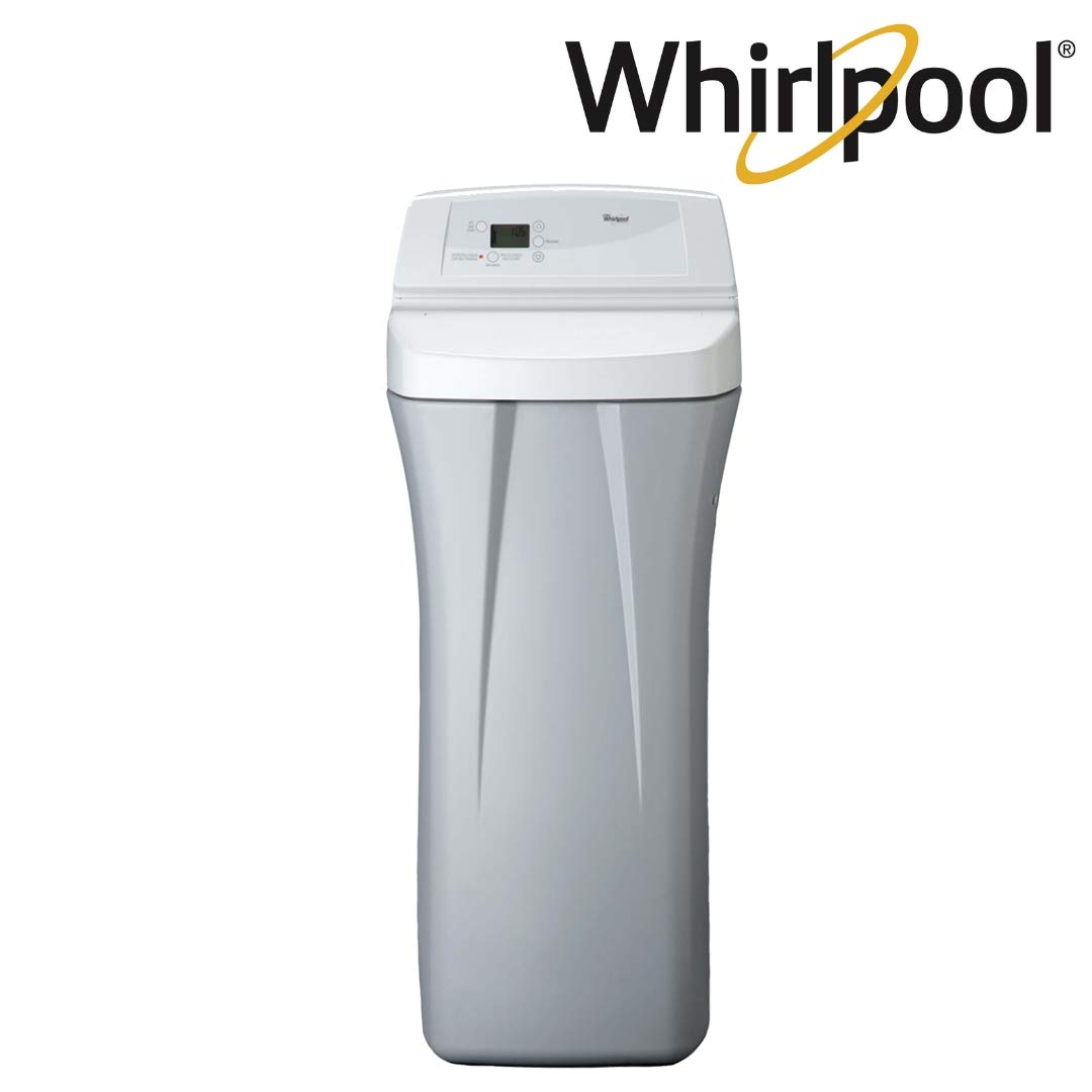 Whirlpool WHES30E 30,000 Grain Softener | Salt & Water Saving Technology | NSF Certified | Automatic Whole House Soft Water Regeneration, Off- Off-White