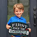 #5: First Day of School Sign | Chalkboard Style | Preschool | Kindergarten | 1st Grade Plaque | Use as Photo Prop for a Boy or Girl | 10 inches x 15.5 inches (Kindergarten)