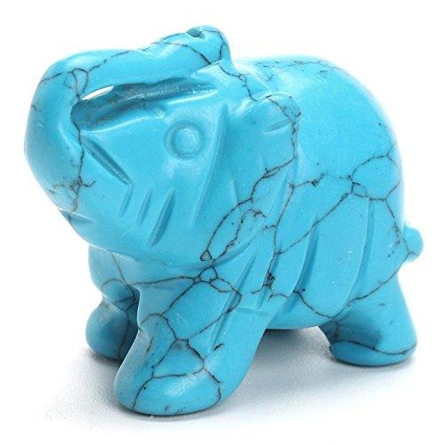 Turquoise Elephant Statue 1.5