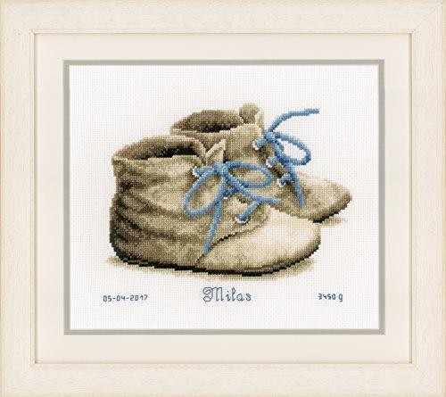"Vervaco Baby Shoes on Aida  Cross Stitch Kit 7.25""X6"""