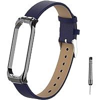 Hangrui Horlogeband voor Xiaomi Mi Band 4/Mi Band 3, armband Bracelet slanke ademende fitness horlogeband verstelbare polsband met metalen gesp voor Mi Band 4/Mi Band 3