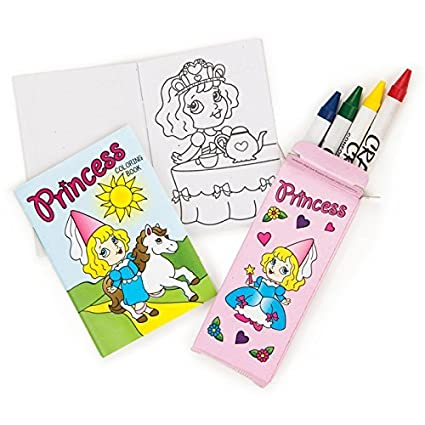 Fe One Dozen Mini Princess Coloring Sets Crayons