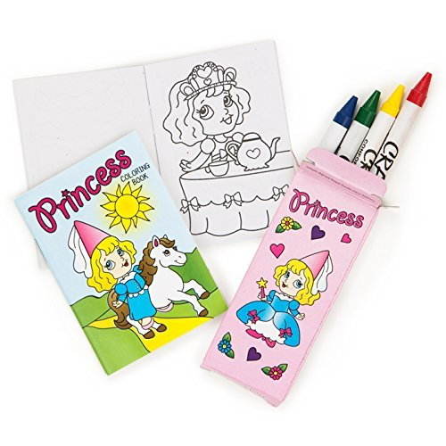 Dozen Mini Princess Coloring Sets