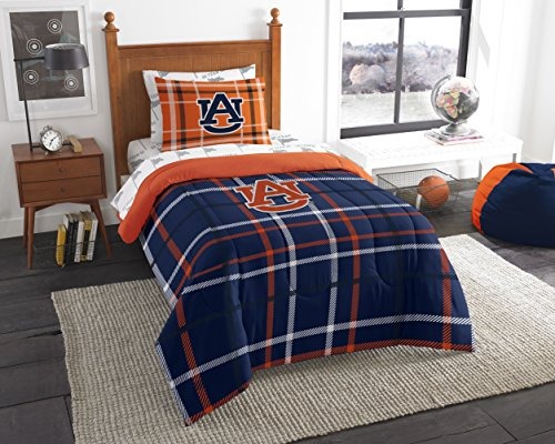 The Northwest Company Officially Licensed NCAA Auburn Tigers Soft & Cozy 5-Piece Twin Size Bed in a Bag - Set Bed Auburn