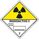 DL26ALV National Marker Dot Shipping Label, Radioactive II, 7, 4 Inches x 4 Inches, Ps Vinyl 500/Roll