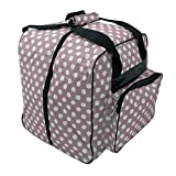 Hemline Dotty Mauve Polka Dot Serger or Overlock Tote Bag