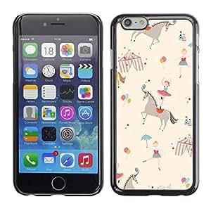 TopCaseStore / la caja del caucho duro de la cubierta de protección de la piel - Ballerina Kids Retro Beige - Apple iPhone 6 Plus 5.5