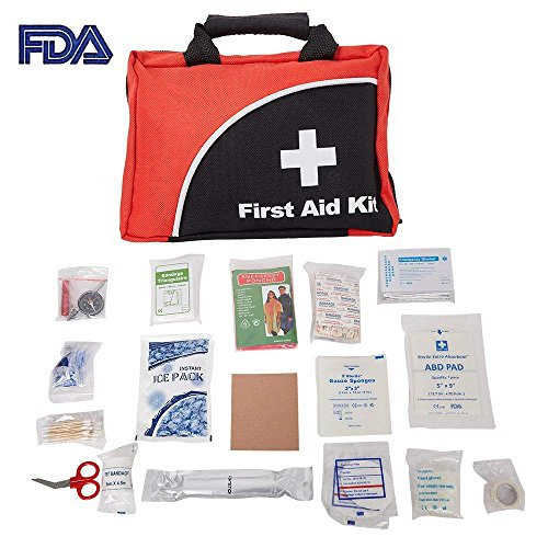 KARMAS PRODUCT 110 Pieces FDA Approved First Aid Kit Compact Emergency Survival Kit Home School, Office, Car, Travel, Sports, Hiking by KARMAS PRODUCT