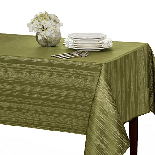 "Benson Mills Flow ""Spillproof"" Fabric Tablecloth, 60X84 Inch, Sage"
