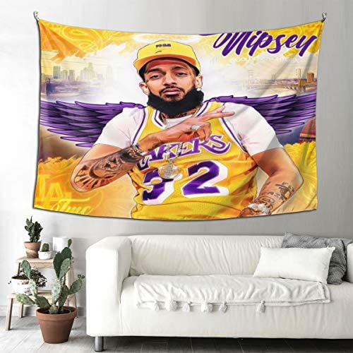 AkanaRika Tapestry Wall Hanging,Nipsey-Hussle Art Tapestry,Wall Art Decoration for Living Room Bedroom Dorm Home 60 X 90 Inches,152 X 230 cm