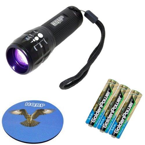 HQRP High Power 3W LED Ultraviolet Blacklight UV Flashlight