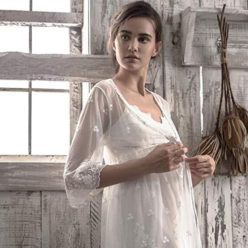 Camicia Sexy Moda In Summer Due Da Dolce Balletto Notte Donna Pigiama White Set Pezzi Homewear Fall Fionda BIXfwq1x