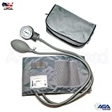 Manual Blood Pressure Monitor BP Cuff Gauge Aneroid Sphygmomanometer Machine Kit (Light Grey)