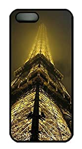 Rubber Back and DIY Case Cover For iPhone 5C Custom Soft TPU Single Shell Skin For iPhone 5C-Paris Eiffel Tower in Fog