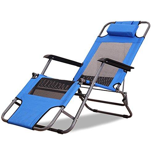 Amazon.com: Silla reclinable azul plegable para dormir en la ...