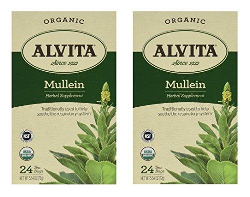 Alvita Tea Mullein 24 Tea bags (Set of (Alvita Teas Mullein Leaf Tea)
