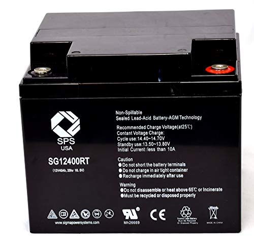 SPS Brand 12V 40Ah Replacement Battery for Cash Register Special BTP880 (Terminal RT) (1 Pack)