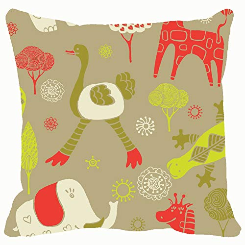 Throwpillow Covers 18x18,Cartoon Seamless Pattern Animals Backgrounds Textures Pattern Backgrounds Textures Illustrations Clip Art Pattern Illustrations Clip Art