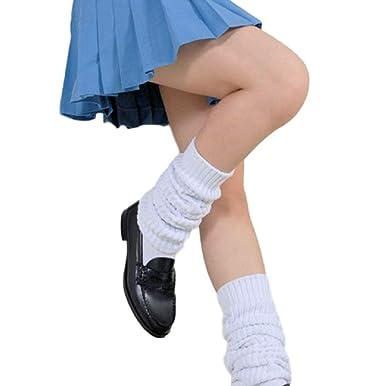 30c7b045e04 SSJ Japan High School Girls Leg Warmer Bubble Loose Socks  US Size 5.5-