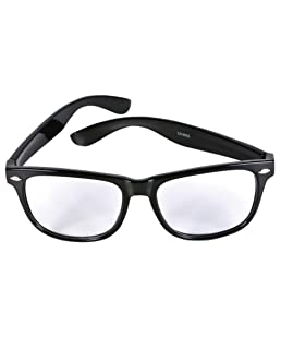 "Vintage ""Buddy"" Wayfarer Blues Brothers Clear Sunglasses"