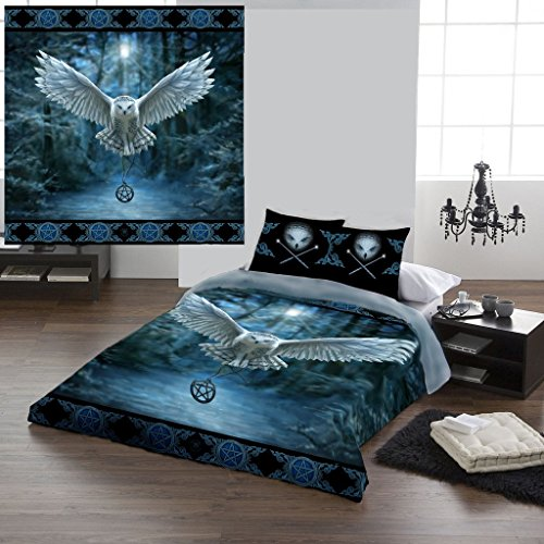 AWAKEN YOUR MAGIC Duvet & Pillows Case Covers Set for Double/Twin Bed Artwork By Anne Stokes by Wild Star@Home by Wild Star Home