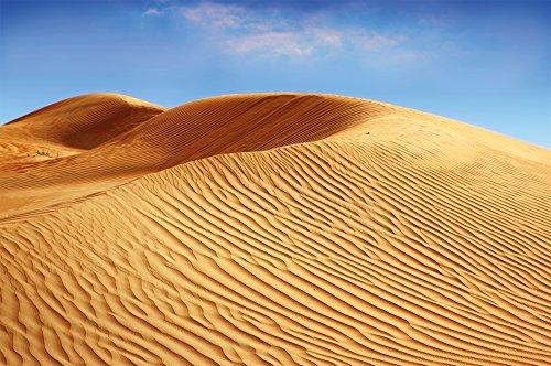 Desert Sand Dunes photo wallpaper - sandy landscape mural Africa savanna - XXL desert landscape wall decoration 55 Inch x 39.4 Inch by Great Art