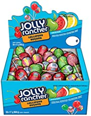 JOLLY RANCHER Candy Lollipops Assortment, Halloween Candy to Share, Bulk Candy, 50 Count (850 Gram)
