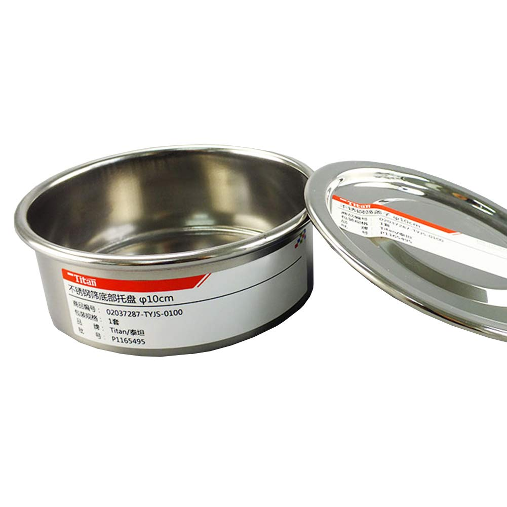 Adamas-Beta Economy Test Sieve Catch Pan and Lid for Chrome Plating Steel Frame φ10cm Diameter Sieve by Adamas-Beta