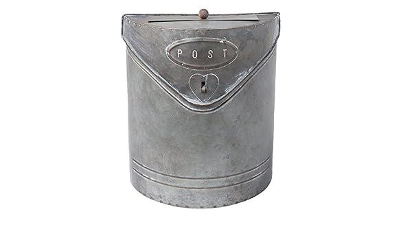Cherishly Buz/ón de Metal Retro antioxidante y buz/ón Impermeable Caja de Montaje de Pared para Interiores Exterior Caja de sugerencias de buz/ón Decoraci/ón de Pared para el hogar