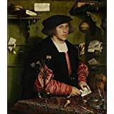 Canvas Prints Of Oil Painting ' Hans Holbein The Younger-The Merchant Georg Gisze,1532 ' , 10 x 11 inch / 25 x 29 cm , Polyster Canvas Is For Gifts And Foyer, Laundry Room And Powder Room Decoration