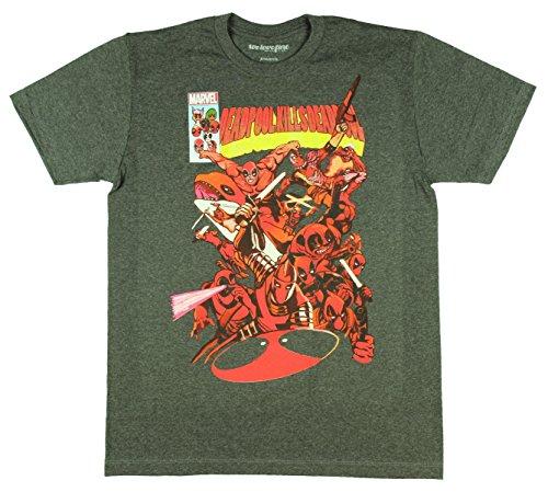 Marvel+Comics+Retro+Shirt Products : Marvel Deadpool Kills Deadpool Comic Book Cover Men's T-Shirt