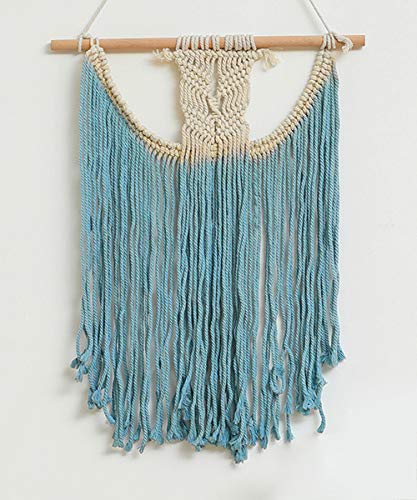 Sonwolf Macrame Wall Hanging for Wall Decor Woven Wall Boho Decor Dorm Wall Art Macrame Wall Hanger (Pattern 1)