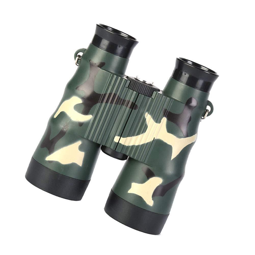 Ni/ños plegables Telescopio ni/ños de juguete de camuflaje mini Prism/áticos Telescopio al aire libre para Explorar Accesorio para ni/ños Tipo Ej/ército Verde 6x36 1pc