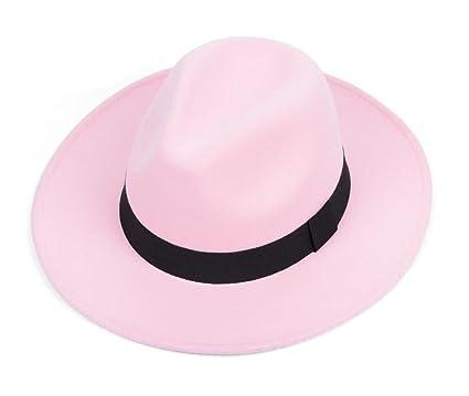838b9c92d East Majik Pink Wide Brim Fedora Hat