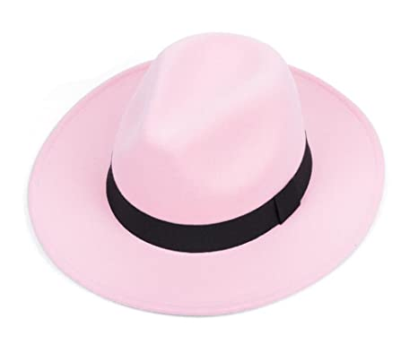 Amazon.com  East Majik Pink Wide Brim Fedora Hat  Sports   Outdoors b979974ef81