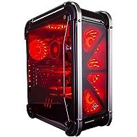 CUK Switch 77 - Gamer VR Ready Desktop (Intel Core i5-8400, 16GB DDR4 RAM, 120GB SSD + 1TB HDD, NVIDIA GTX 1060 3GB, 450W PSU, Windows 10) Best Custom Gaming Computer PC - Black with 7 Fan Colors