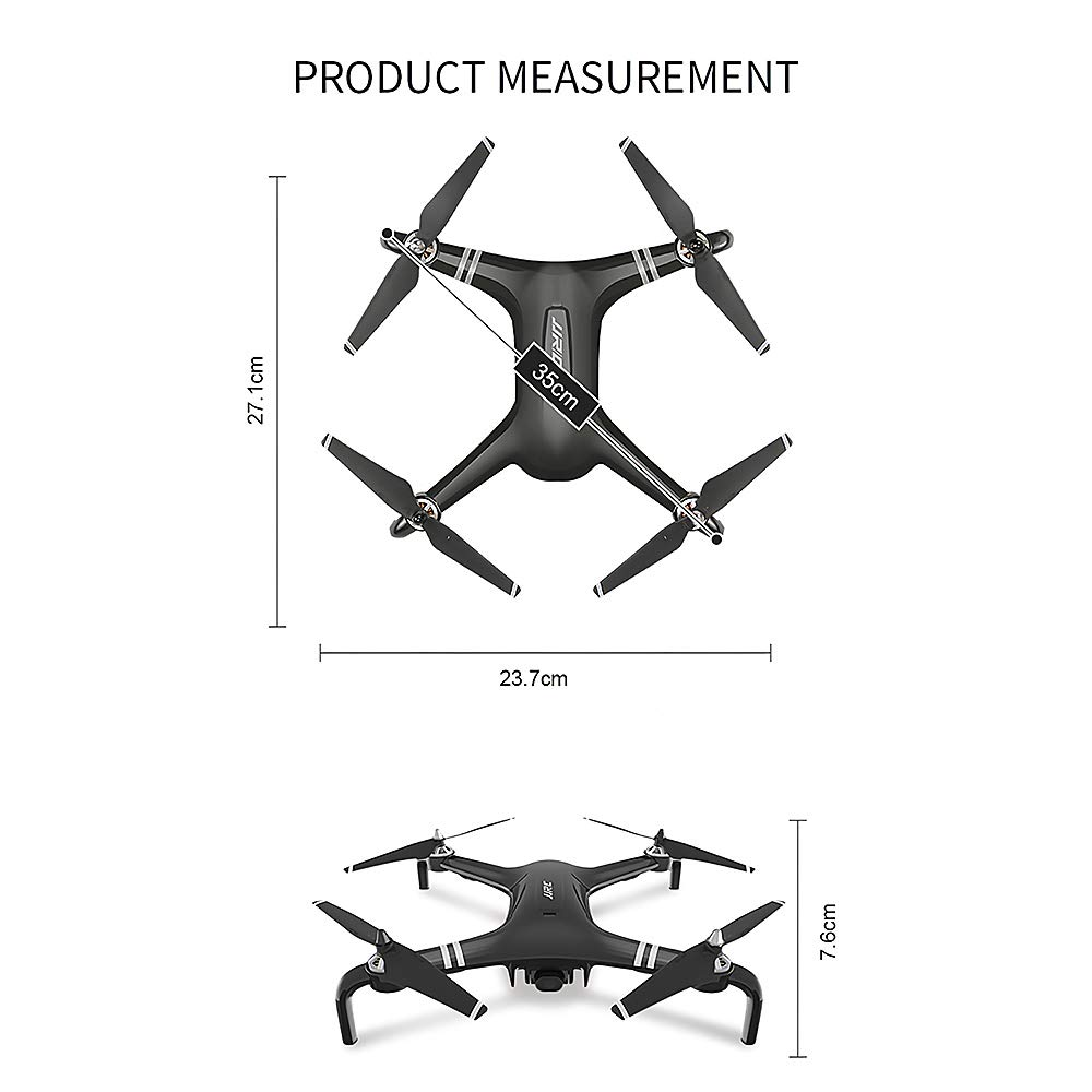 1 battery Goolsky JJR C SMART X7 Brushless GPS Drone with Camera 1080P 5G Wifi Transmission Altitude Hold Follow Mode Orbiting Fly RC Quadcopter