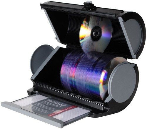(Atlantic 80 Disk Storage Manager - Protect and Organize Media, Durable Hard Plastic in Black,)