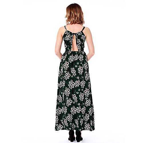 Halter Dress 2018 3 L FFLLAS New Fashion Summer Ms Sexy Stampa 1U0wqY4