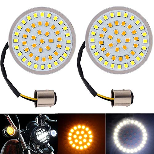 [해외]shunyang 2 Inch Bullet Style 1157 LED Turn Signal Light Inserts Rear LED Turn Signal Light For Harley Davidson Softail Dyna Sportster Glide White And Amber / shunyang 2 Inch Bullet Style 1157 LED Turn Signal Light Inserts Rear LED ...
